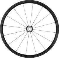 "14"" aluminium wheel, stainless spoke"