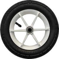 "Focus, 10"", plastic wheel, white, rubber or EVA tire"