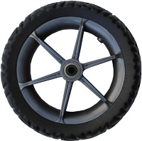 "Focus, 10"", plastic wheel, graphite, rubber or EVA tire"