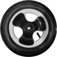 "K01, 10"", plastic wheel, white or black"