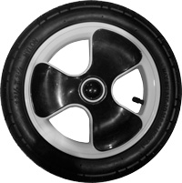 "K01, 12"", plastic wheel, white or black"