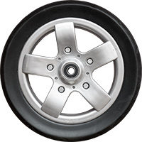"7"" plastic wheel, EVA tire"