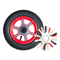 "K10, 10"" plastic wheel, lid"