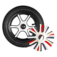 "K12, 12"" plastic wheel, lid"
