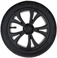 "F12, 12"" plastic wheel, black"