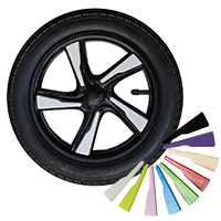 "Prestige, 12"", plastic wheel, black + lid"