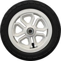 "T10, 10"", plastic wheel, white"