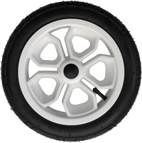 "T12, 12"", plastic wheel, white"
