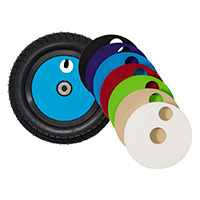 "U10, 10"" plastic wheel, colored lid"