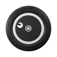 "U10, 10"" plastic wheel, printed lid"