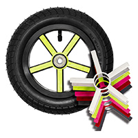 "U10, 10"" plastic wheel, colored overlay"