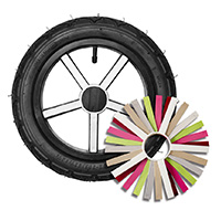 "U12, 12"" plastic wheel, colored overlay"