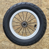 "10"" aluminium wheel, stainless spoke"