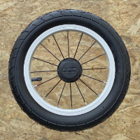 "12"" aluminium wheel, stainless spoke"